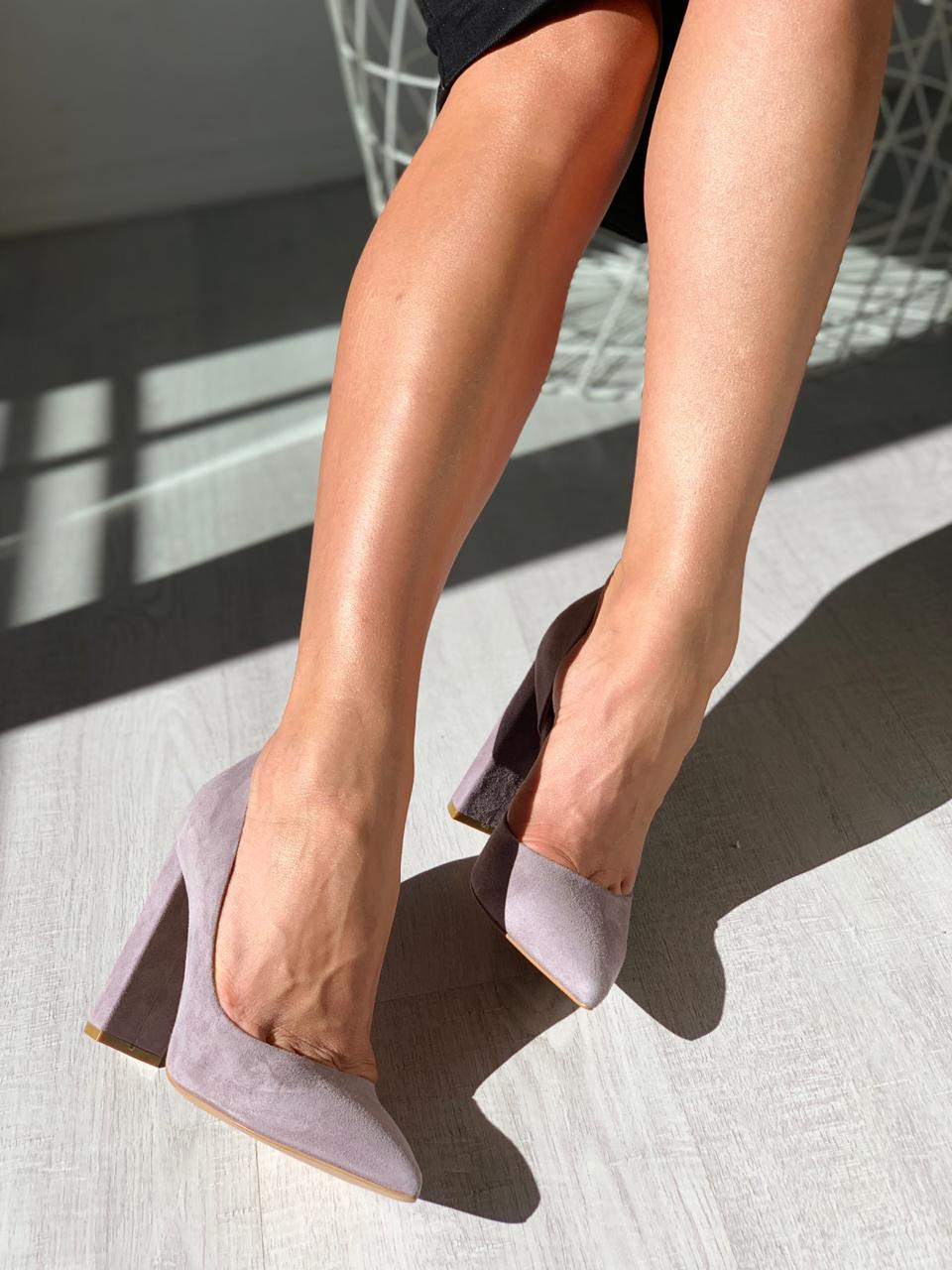 Купить со скидкой Туфли женские замша