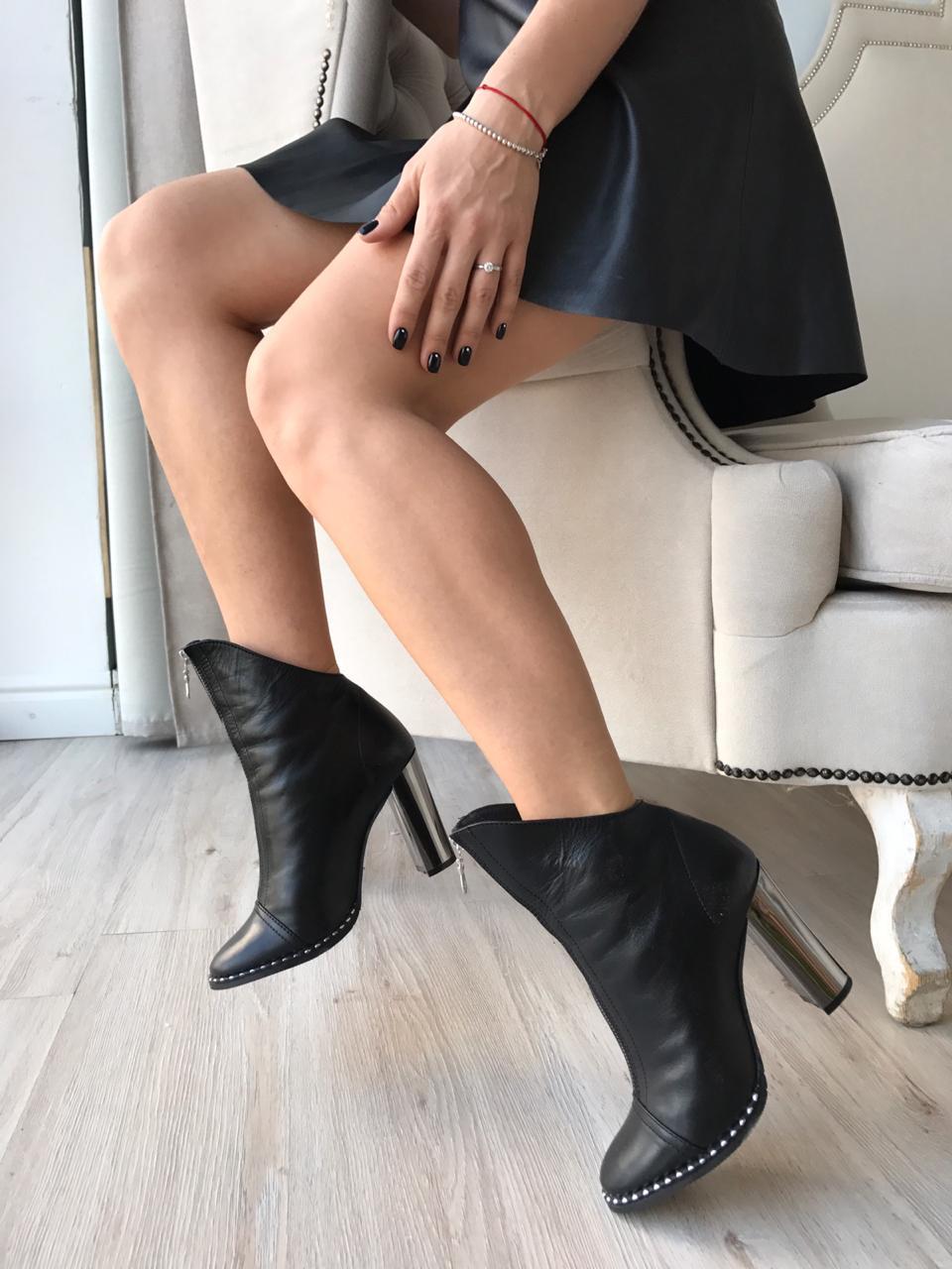 Купить со скидкой Ботильоны  женские кожа
