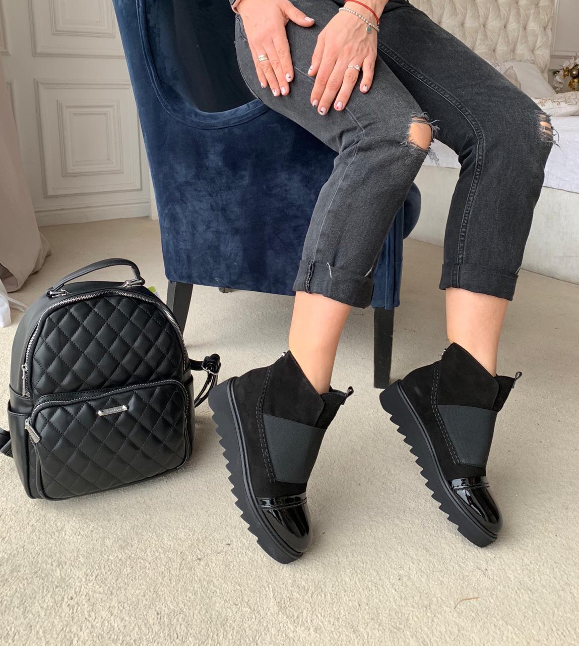 Купить Ботинки женские замша мех, YourBox