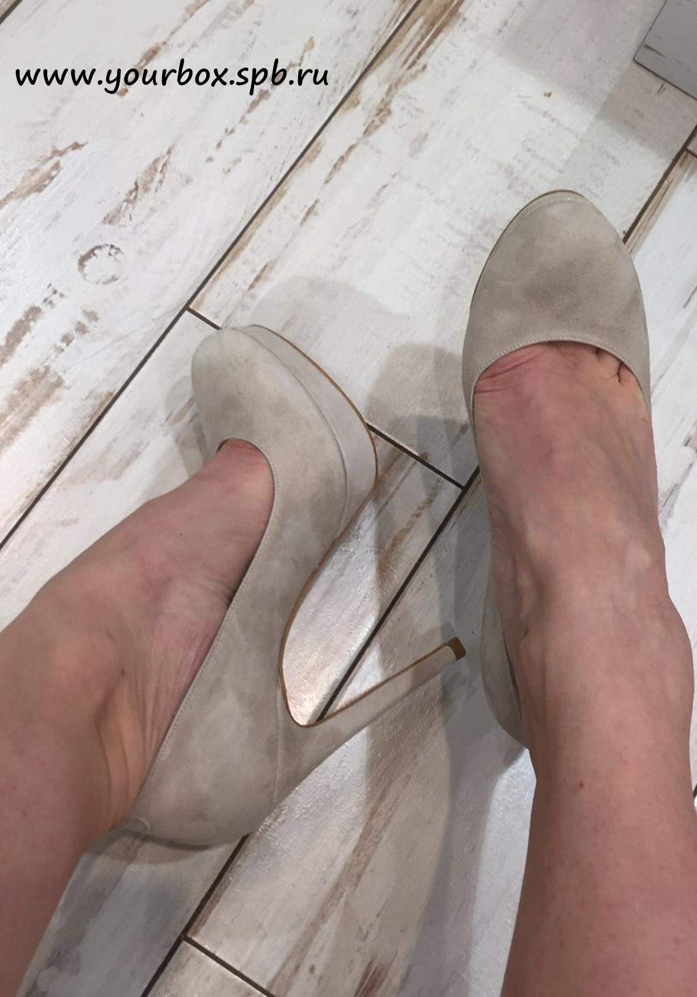 Купить Туфли женские замша закрытые, YourBox